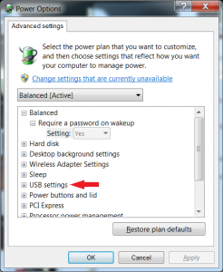 Windows 7 Power Plan Advanced Options