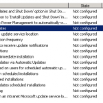 Group Policy Windows Update Setting Window