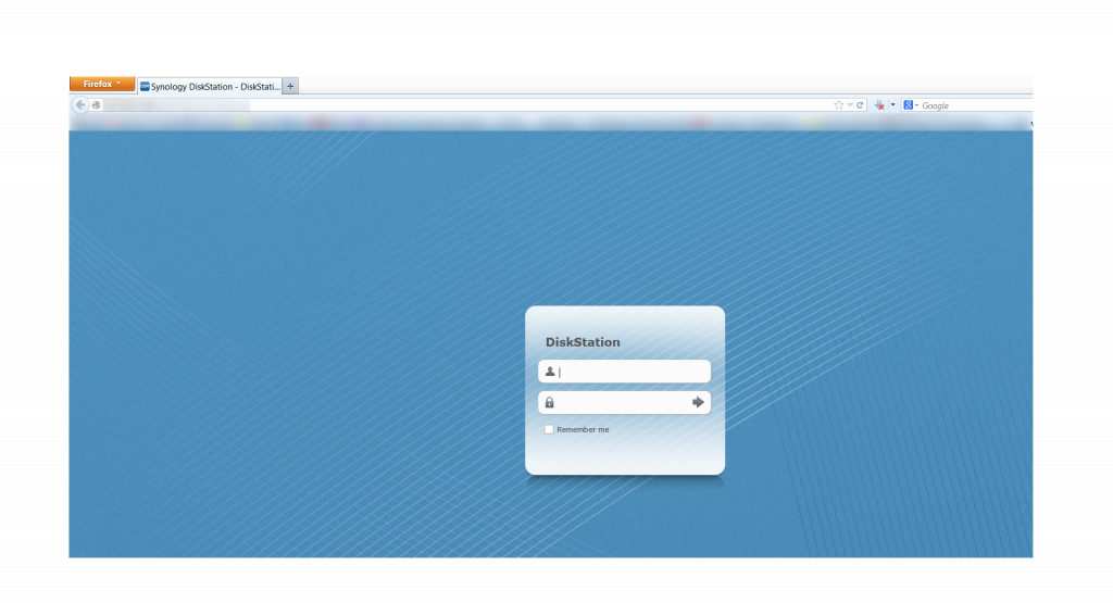 Synology DiskStation Manager Login Screen