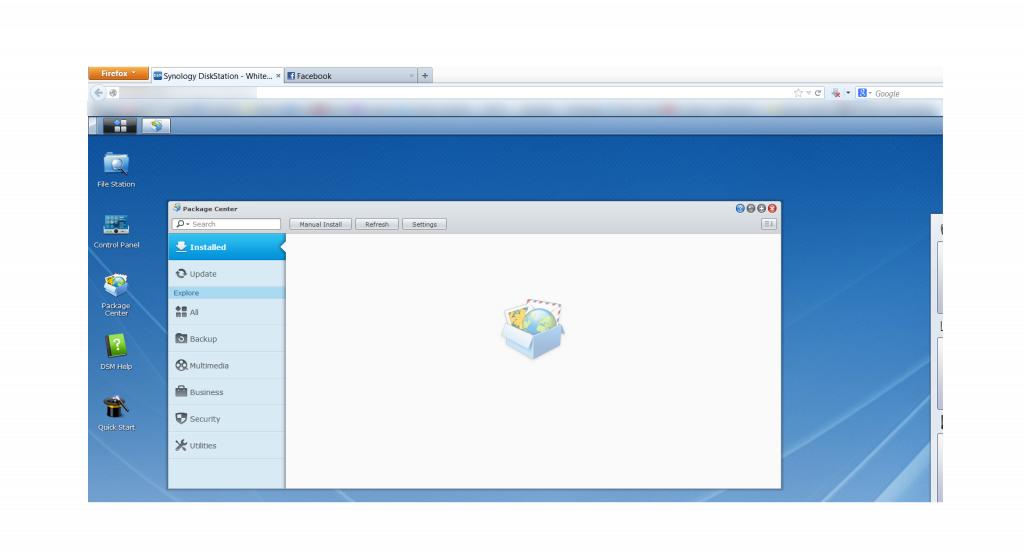 Synology DiskStation Manager Package Center