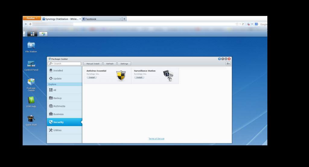 Synology DiskStation Manager Package Center - Surveillance Station