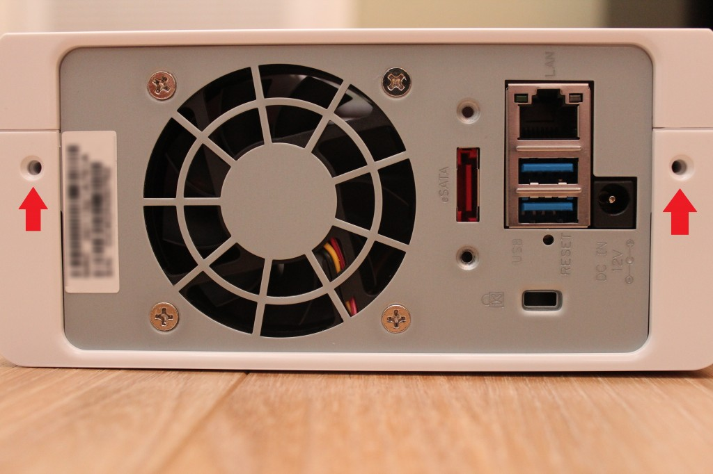 Rear view of Synology DS112