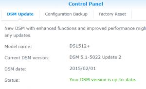 Synology DSM - DSM Update