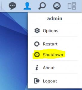 Synology DSM - Shutdown