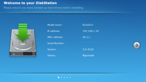 Synology DSM - Migration Setup