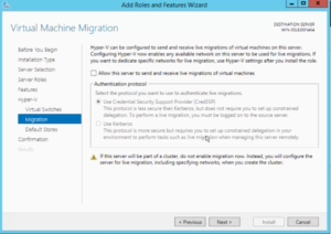 2012R2 Add Roles and Features - Hyper-V - Migration