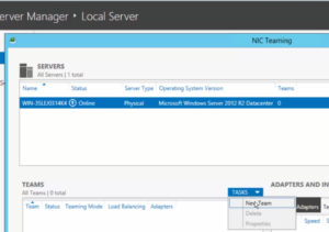 2012R2 Server Manager - Local Server - New Team
