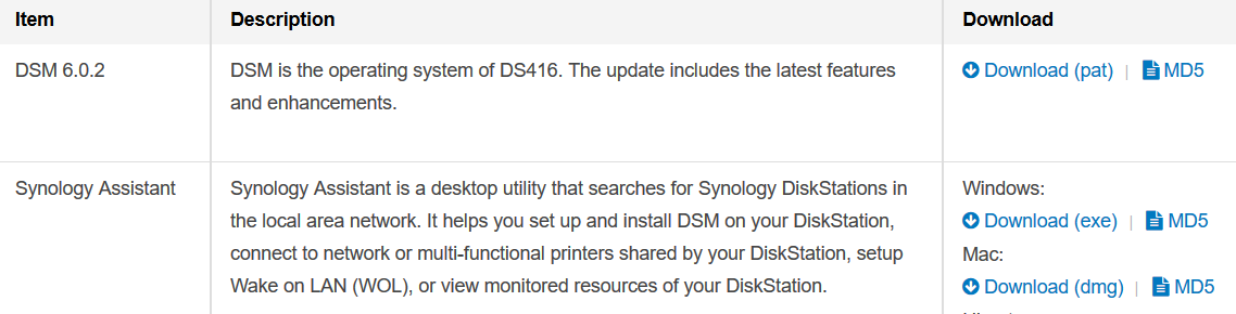 synology-download-center