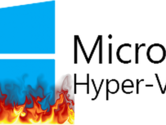 Hyper-V logo on fire