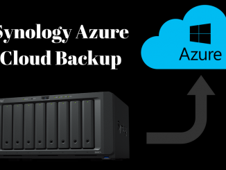Backup Synology to cloud with Synology Azure Backup