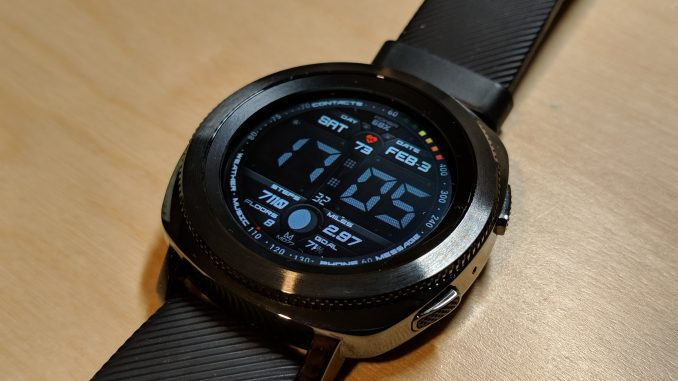 Samsung Gear Sport with custom watch face