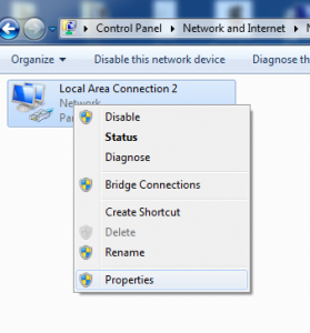 Windows 7 Network Adapters - Properties