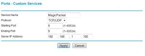 Netgear WNDR3700 Ports - Custom Services