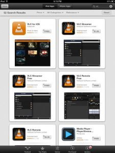 VLC for iOS app available inside App Store