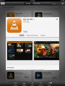 Installing VLC for iOS from App Store