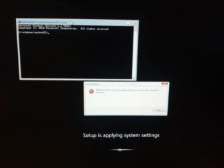 Windows PE command window - Windows Preinstallation Environment command window