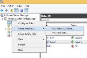 Create Hyper-V high availability VM