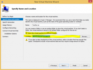 Hyper-V high availability VM - Store on CSV