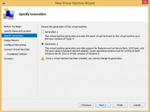 Hyper-V high availability VM - Choose Generation