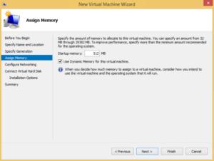 Hyper-V high availability VM - Assign Memory