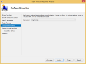 Hyper-V high availability VM - Configure Networking