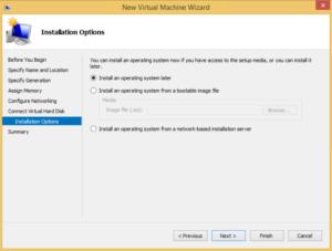 Hyper-V high availability VM - OS Installation