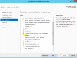 2012R2 Add Roles and Features - Hyper-V