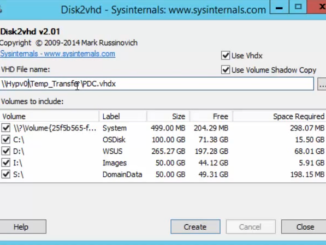 Disk2vhd - Sysinternals - Multiple drives