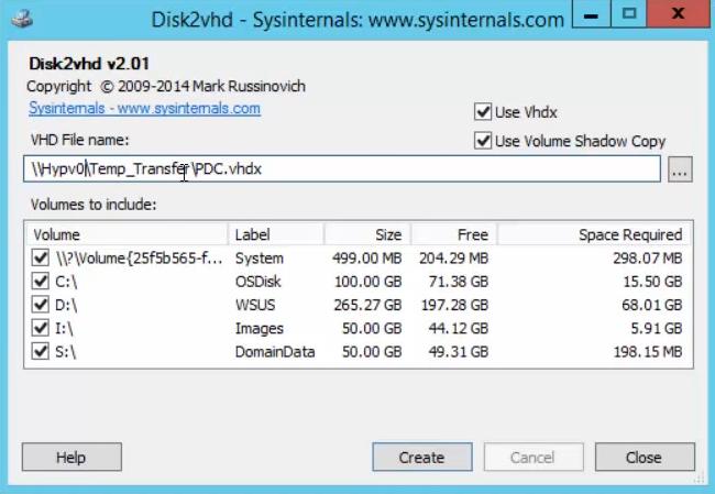 Hyper-V P2V using Disk2vhd - Tech Thoughts
