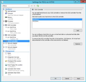 Hyper-V Manager - VM Settings - Add Hard Drive