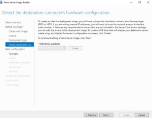 Nano Server Image Builder - Hardware Configuration