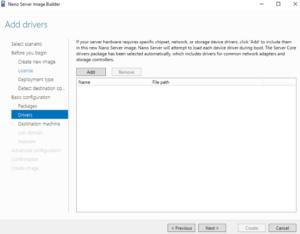 Nano Server Image Builder - Add drivers