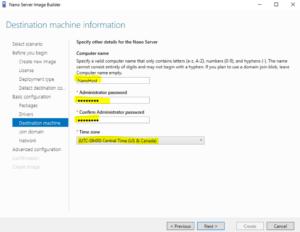 Nano Server Image Builder - Destination Machine Information