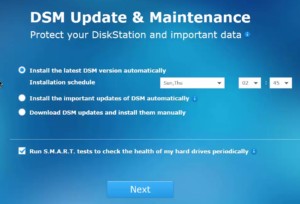Synology Disk Station Manager - Update & Maintenance