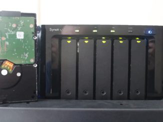 Synology DS1512+ with failed hard drive