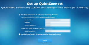 Synology QuickConnect Setup - Create Account