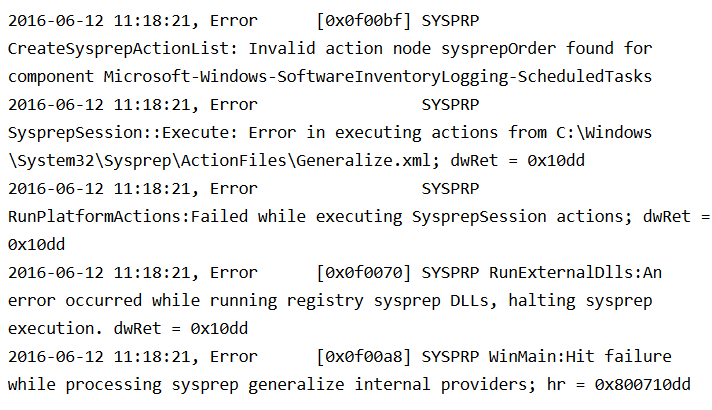 2012 Server sysprep fails - Tech Thoughts