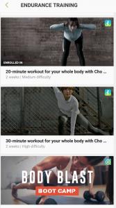 Samsung Health Endurance Training Programs
